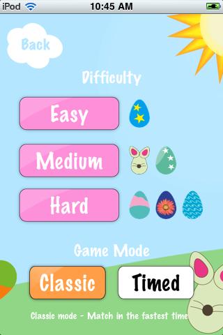 Screenshot Easter Egg Matching Memory Game