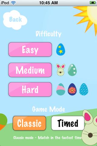 Screenshot Easter Egg Matching Memory Game